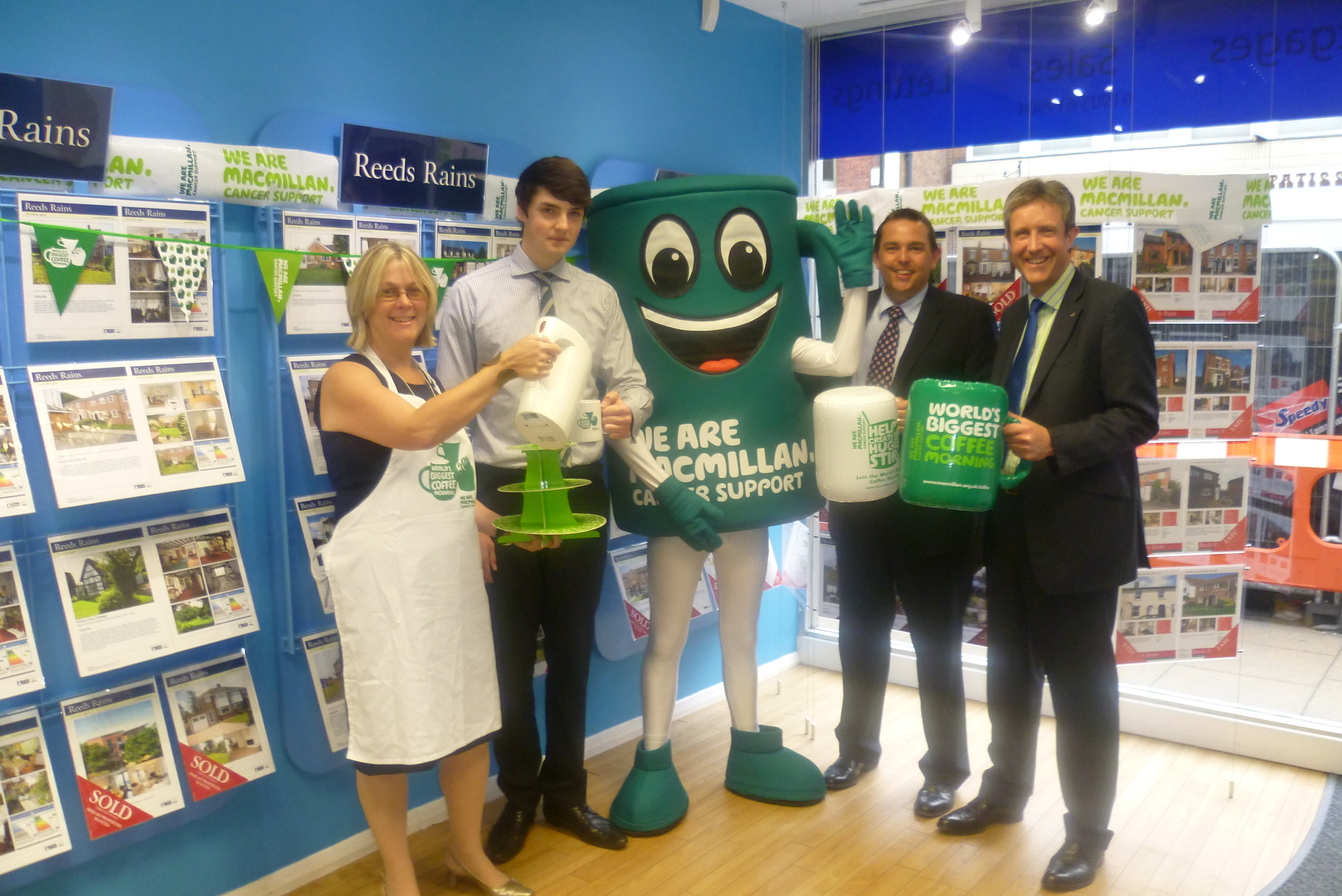 Reeds Rains Worcester To Support Macmillan Cancer Support At Coffee Morning