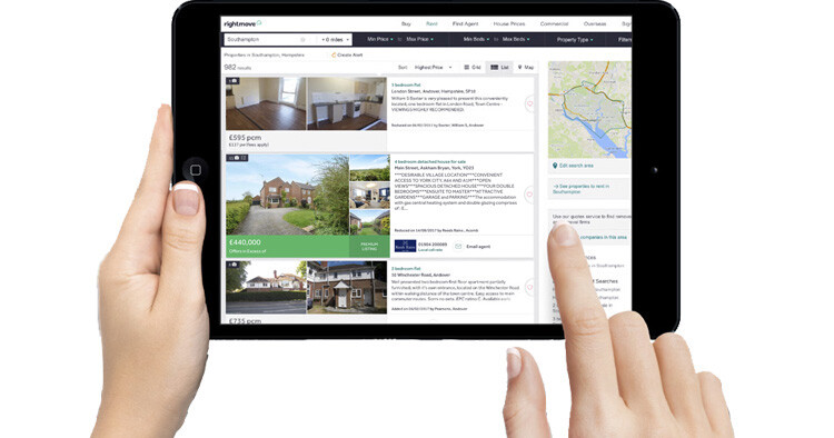 Premium listings on Rightmove and Zoopla